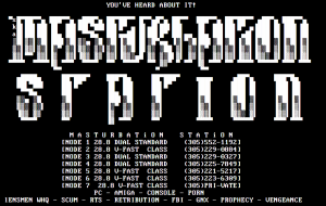 Masturbation Station Login ScreenCirca 1996