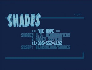 Shades Cracktro ScreenPirates Cove, before Masturbation Station